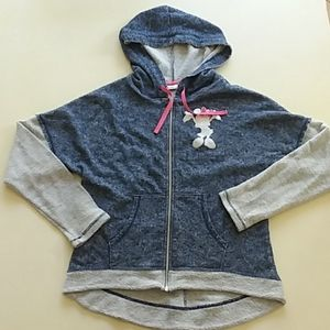 Disney park Minnie Mouse zip-up hoodie sweatshirt